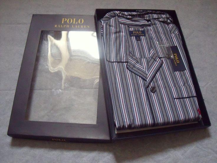 Polo Ralph Lauren Mens Sutton Stripe 100% Cotton Pyjamas - Large / Gift for him  | eBay
