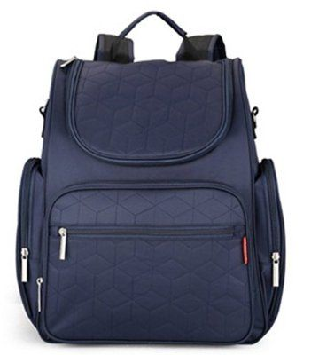 Diaper Backpack with Changing Pad Travel Diaper Bag for Mummy and Dad (Navy blue)