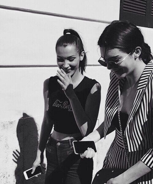 pinterest   bellloneil   Bella Hadid and Kendall Jenner
