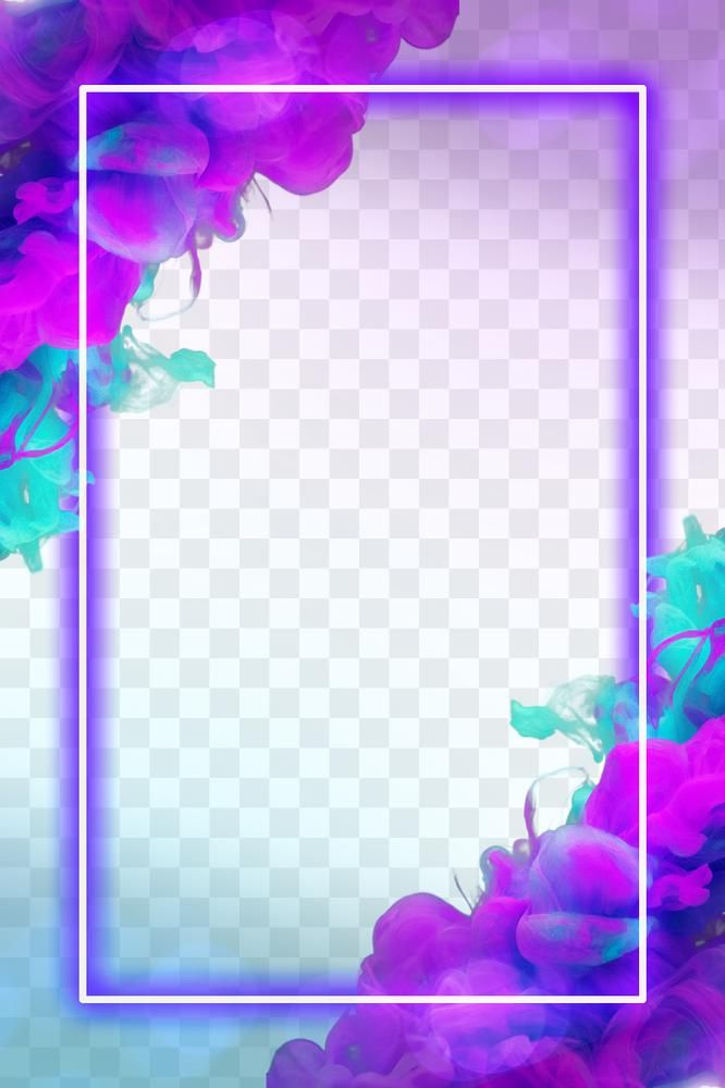 Glowing Neon Frame Png Purple Gradient Ink Explosion Free Image By Rawpixel Com Maewh Photo Frame Gallery Neon Pretty Wallpapers