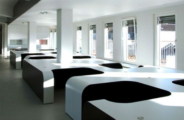 A very clean and modern office space. #cooloffice #cubicledesign #modernoffice