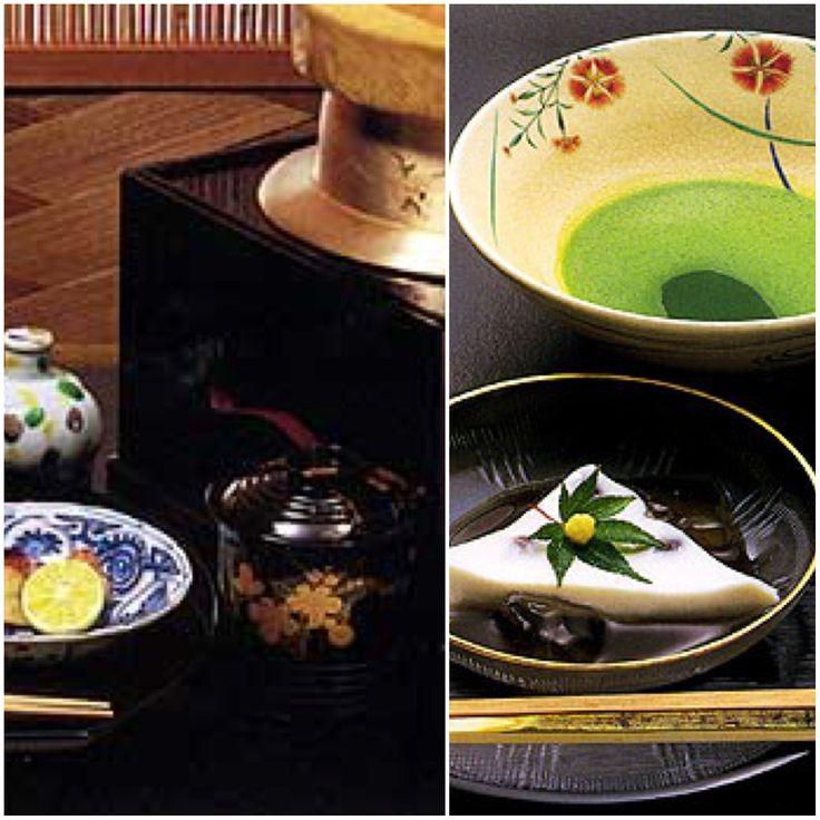 京都嵐山 吉兆 懐石  ご飯、菓子 薄茶