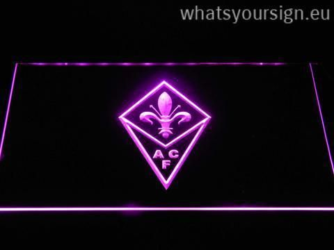 ACF Fiorentina - LED neon sign light display made of the first-class quality clear plastic and bright colorful lighting. The neon sign displays exactly the same from every angle thanks to the carving with the latest 3D laser engraving process. This LED neon sign is a great gift idea! The neon is provided with a metal chain for displaying. Available in 3 sizes in following colours: Orange, Purple, Blue, Yellow, White, Red and Green!