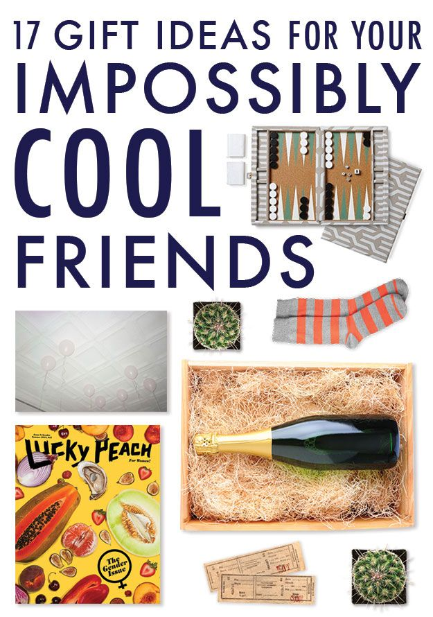 17 Gift Ideas For Your Impossibly Cool Friends | Gift ideas ...
