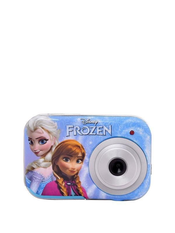 Disney Frozen Frozen 5.1 Mega Pixel Digital Camera Your little one will love taking snaps with the Disney Frozen 5.1 Megapixel Digital Camera. Featuring an adorable design inspired by the hit Disney film, it features a1.5 inch screen and holds up to 100 images.It can be used as a web cam and also comes with photo editing software. It has a wrist strap in case they drop it, and a USB cable so they can easily connect it to their computer.Useful info: Disney Frozen 5.1 Megapixel Digital…