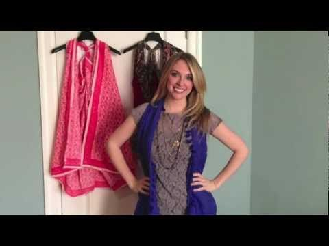 Quick Crafts with Brittany Spriggs: How to turn a SCARF into a VEST! - YouTube