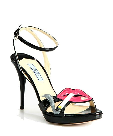 .Hot Shoes, Prada Lips, Lips Shoes, Smoking, Smoke Hot, Smoke Shoes, Sandals, Prada Smoke, Smoke Lips