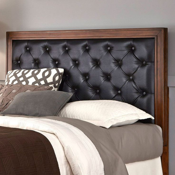 Home Styles Duet Upholstered Bed Black Leather, Size: Queen - 5546-501F