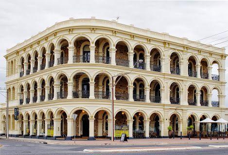 The Largs Pier Hotel, an edwardian wedding cake seaside affair in Adelaide South Australia Mark Gordon