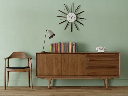 50's Teak Furniture - simplicity was the key element and the telephone held prime position ! #fifties-furniture