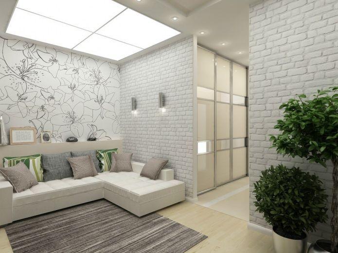 Современный дизайн однокомнатной квартиры 45 кв. м.