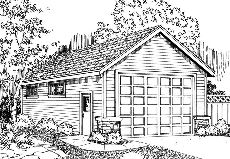 Garage plan 20 030 this traditional rv garage plan could for 4 door garage plans