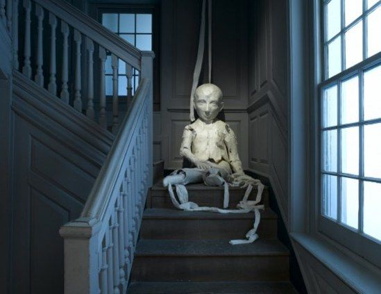 Kiki Smith. Walking puppet 2008 (Installation, Major Henry Trippe House, Chamber Staircase, Brooklyn Museum.)