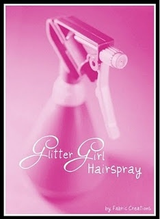 DIY Glitter Girl Hairspray Tutorial
