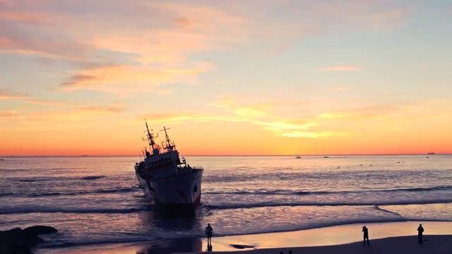 The Clifton Trawler by Rory Allen. What was supposed to be a single time lapse of the ship getting pulled out, ended up turning into a four day documentation of the entire event.