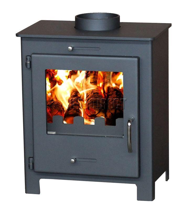 6 Kw Nero Modern Multi Fuel Wood Burning Log Burner Stove