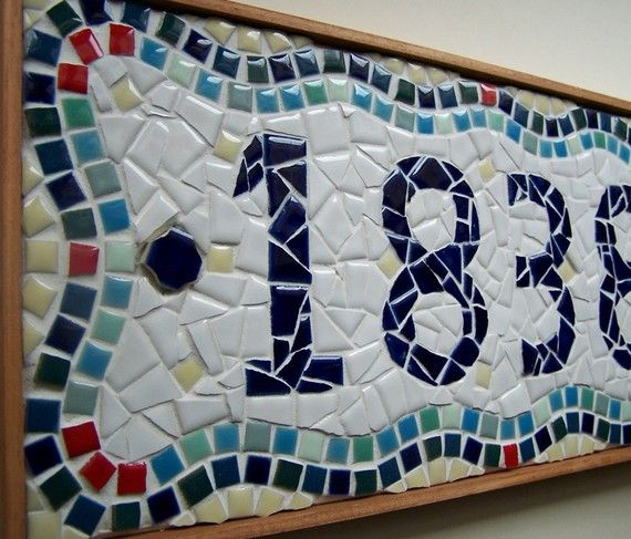 5Digit Custom Mosaic House Number by jenniestephensart on Etsy, $130.00