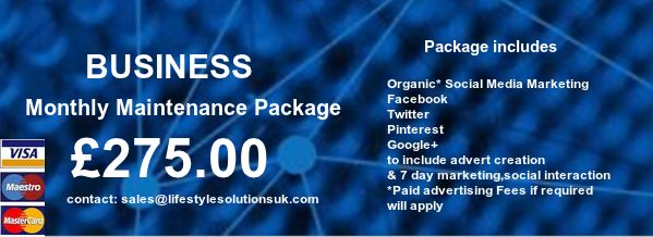 Business Social Media Monthly Maintenance Packages -  With Virtual Media Marketing Assistance 7 days a week each month, push your brand, name and content online, gain leads, sales and improve SEO