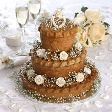 Pie wedding cake - For all your Wedding cake decorating supplies, please visit http://www.craftcompany.co.uk/occasions/weddings.html