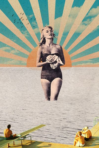 """CyP088 """"Sunset Coming On"""" by Sammy Slabbinck. Really like the 50's looks of this, very vintage :)"""
