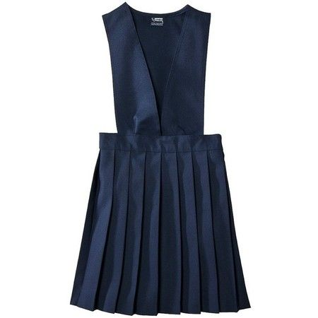 French Toast Girls School Uniform V-Neck Pleated Jumper