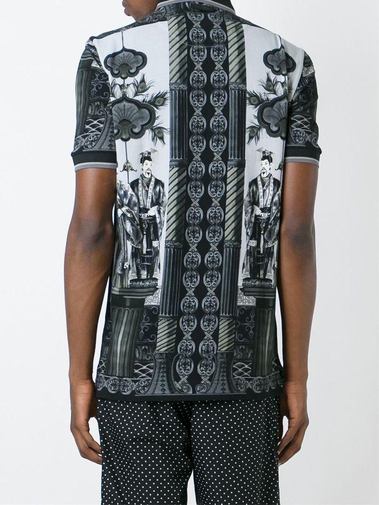 Dolce & Gabbana Chinese print polo shirt