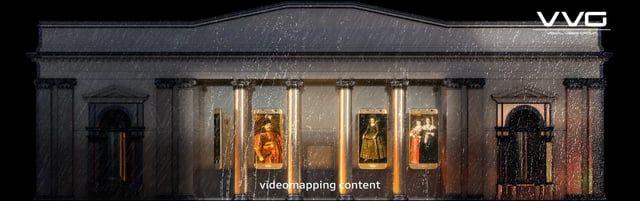 контент для видеомэппинга на Ночь Музеев 2016 в Минске.  3840*1200 px. (7 дней) Octane render Sound: Samsung  videomapping content