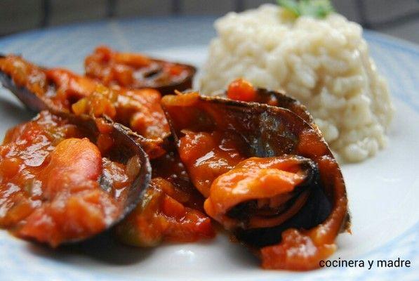 Mejillones con salsa de tomate recetas pinterest salsa for Cocinar mejillones en salsa
