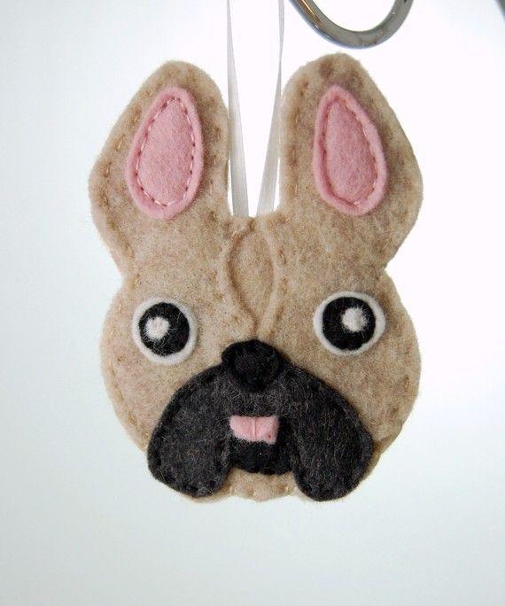 Bulldog Francés personalizado sentía ornamento del perro por Tumus