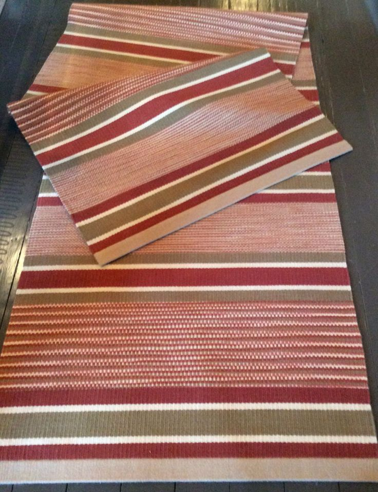 Great Long Runner Rug, Handwoven Rug, Hand Dyed Wool, Hand Woven Stripes Solids  And