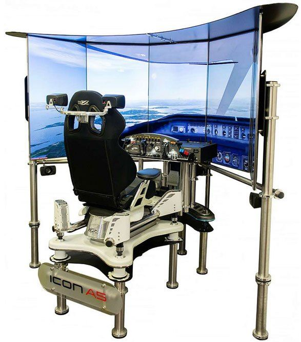 VRX Flight Simulator - the nearest thing to a cockpit in your living room