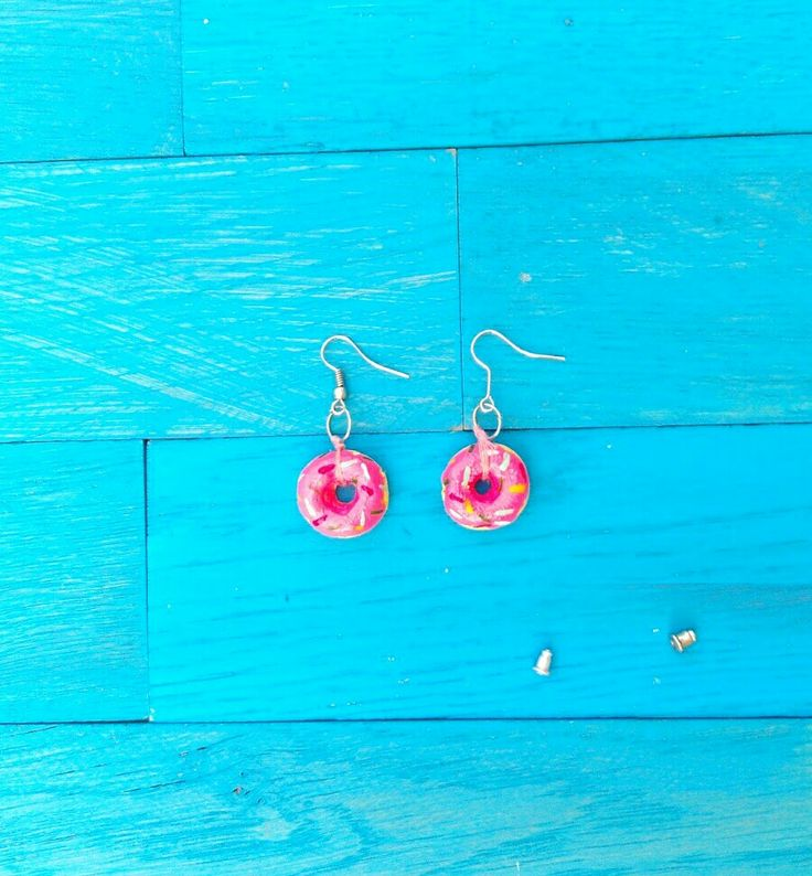 Donut earrings inspired by IdunnGoddess.Now I am ready for summer