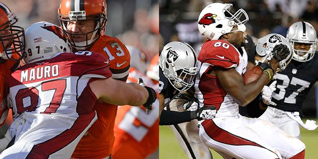 The Arizona Cardinals brought back two of their own Friday morning, signing defensive tackle Josh Mauro and tight end Ifeanyi Momah to one-year contracts.