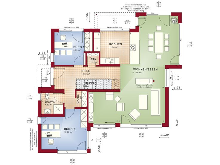 Grundriss haus modern mit erker  201 best Haus Grundriss images on Pinterest | Architecture and ...