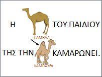 Παροιμιες εικονολεξα για το νηπιαγωγειο σχετικά με τα ζώα-ΚΑΜΗΛΑ