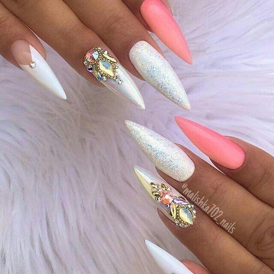 70+ trendige und einzigartige Stiletto Nail Art Designs – Seite 36 von 73 – SeShell Blog – Nails