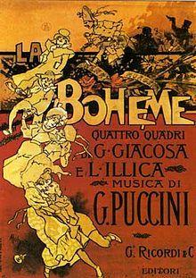 Original 1896 La bohème poster