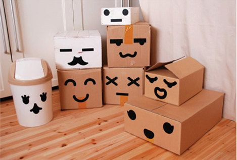 Emoticons Make-up Stickers set: Gift Boxes, Craft, Gift Wrapping, Emoticon Stickers, Wrapping Ideas, Diy, Emoticon Boxes