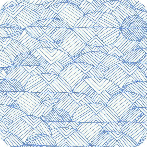 Tissu Valley of azure