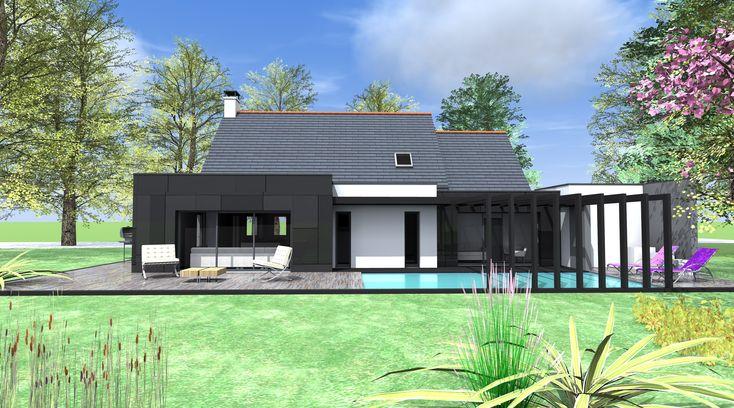 Agrandissement maison bois toit inclin recherche google for Agrandissement maison 4 pentes