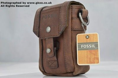 GENUINE FOSSIL VINTAGE LEATHER terrain camera bag sling side cross body bag  compact case reviews UK  0ea5e62c3513c