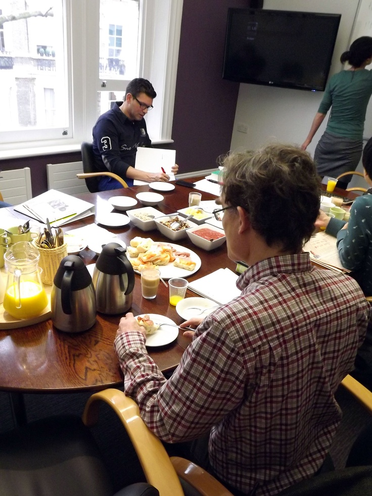 Our IBC clients enjoying Wednesday's business breakfast and sharing their views about recent news