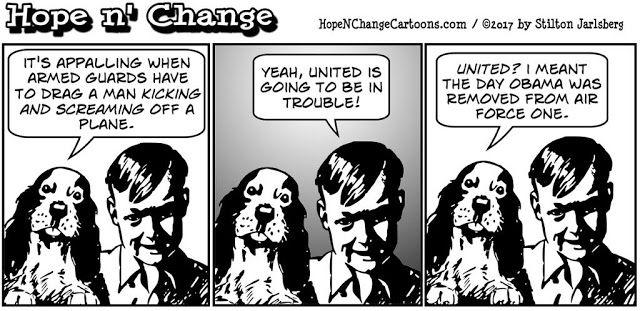 stilton's place, stilton, political, humor, conservative, cartoons, jokes, hope n' change, united, passenger, dragged, war, obama, air force one