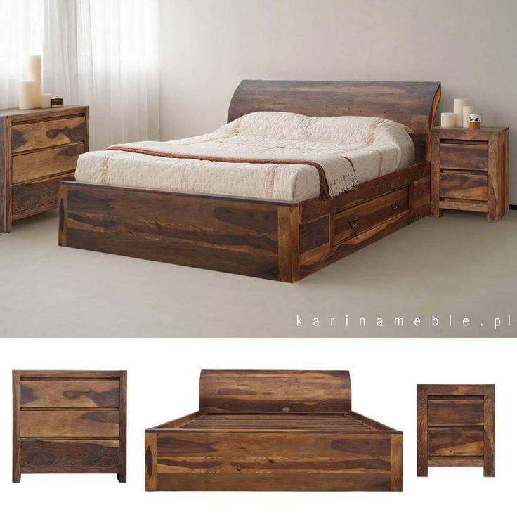 Sypialnia z drewno palisander w jasnym brązie. Łóżko jest zrobione 100% z litego drewna. Polecamy w tej kolekcji także komoda, szafka rtv, szafka nocna, komody, stoliki i inne. Karinameble.pl importujemy meble indyjskie, meble kolonialne, meble drewniane, meble orientalne wszystko z indii. Jeśli marzycie o przytulnej, drewniane sypialni warto pomysleć o mebleach z palisandru. Piękny kolor i wyraziste usłojenie sprawiają że wnętrze jest eleganckie i idealne do wypoczynku.