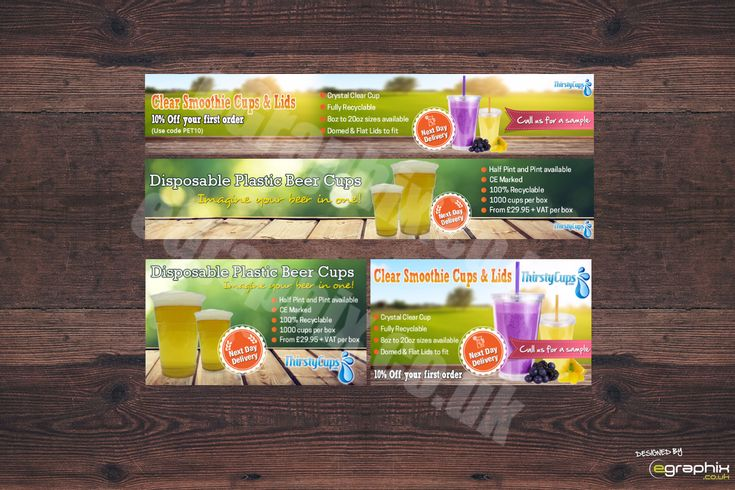 Website banners all custom designed from £30