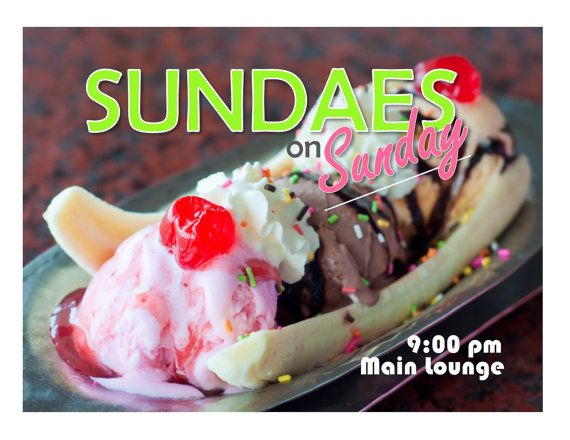 Sundaes on Sunday Resident assistant program ideas. Residence Life RAs can find dozens of socials here. RA ideas
