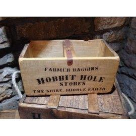 Hobbit antique vintage wooden storage Spice Box