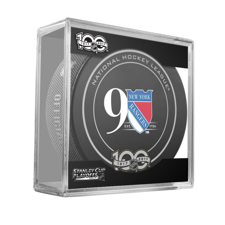 NEW YORK RANGERS 90th 2017 Stanley Cup Playoffs OFFICIAL GAME PUCK 100th Ann NEW #Sherwood #NewYorkRangers
