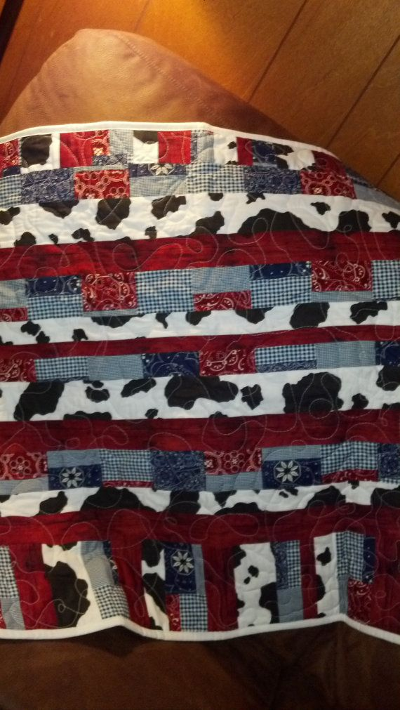 Cowboy Quilt by rusticlovequilts on Etsy, $25.00