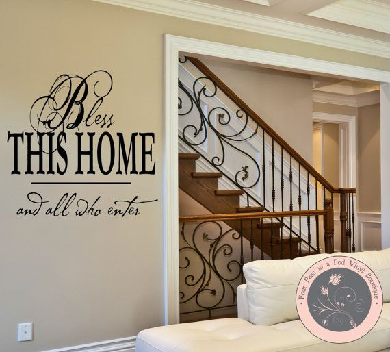 Wall Decals for the Home  Bless This Home by FourPeasinaPodVinyl, $10.00
